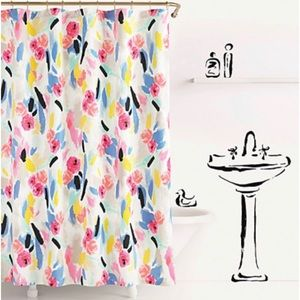 🆕 Kate Spade ♠️ Paintball Floral Shower Curtain